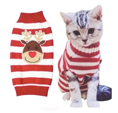 Doggie Style Christmas cat costume