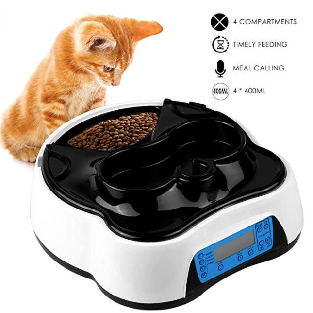PEDY Automatic Cat Feeder 2 in 1