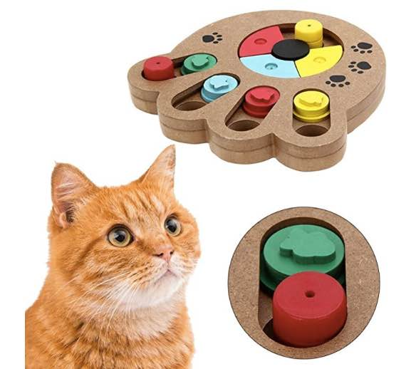 Wooden Pet Paw Puzzle interactive toy