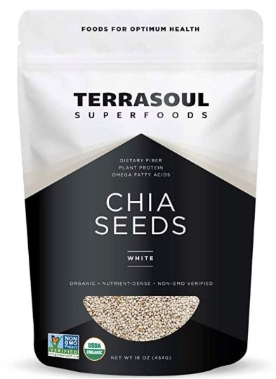 Terrasoul Superfoods Organic White Chia Seeds