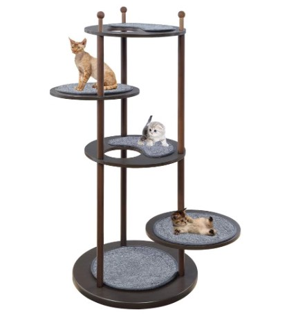 Unipaws Wooden Cat Activity Tree