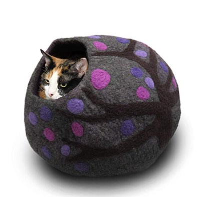 eco-friendly wool cat bed extra large