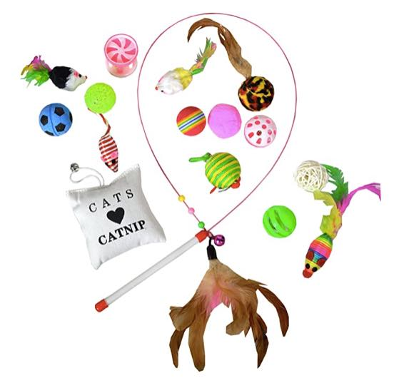 cat wand toy collection
